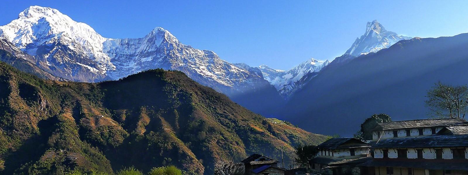 Annapurna range view from Ghandruk Village